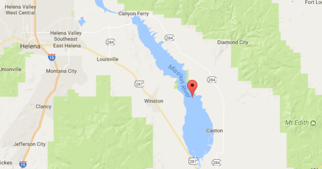 Waterfowl hunters Water Levels in Pond 3 of Canyon Ferry